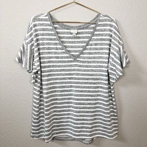 A New Day Flared Sleeves Striped Top